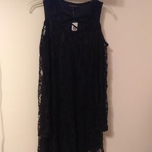 Material Girl black lace dress